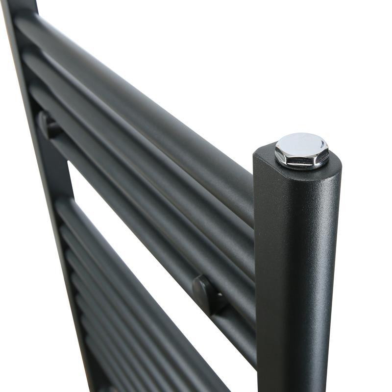 Badheizkörper Breite: 500 mm Gerade Grau Mittelanschluss R18