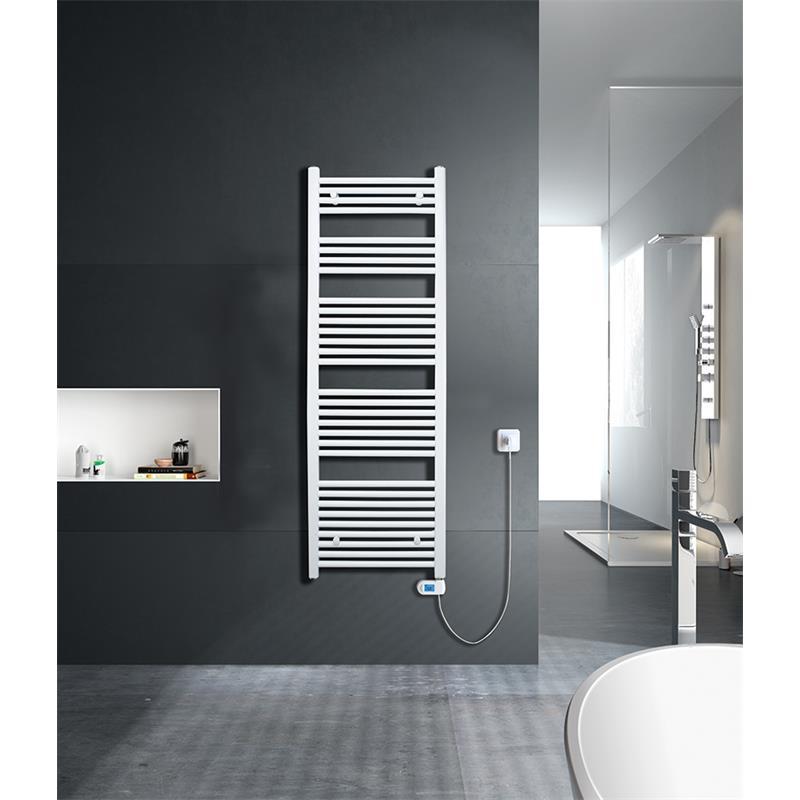 Elektrischer Badheizkörper Breite: 600 mm Gerade Weiß R01E