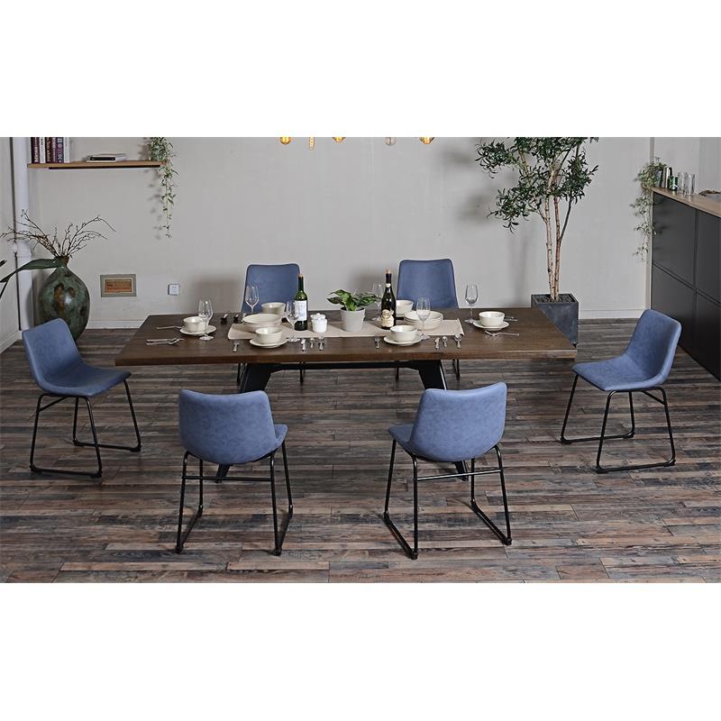 Esszimmerstuhl Küchenstuhl Blau  M-72540/7672