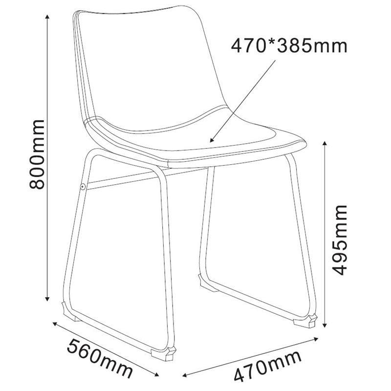 Esszimmerstuhl Küchenstuhl Grau M-72540/7674