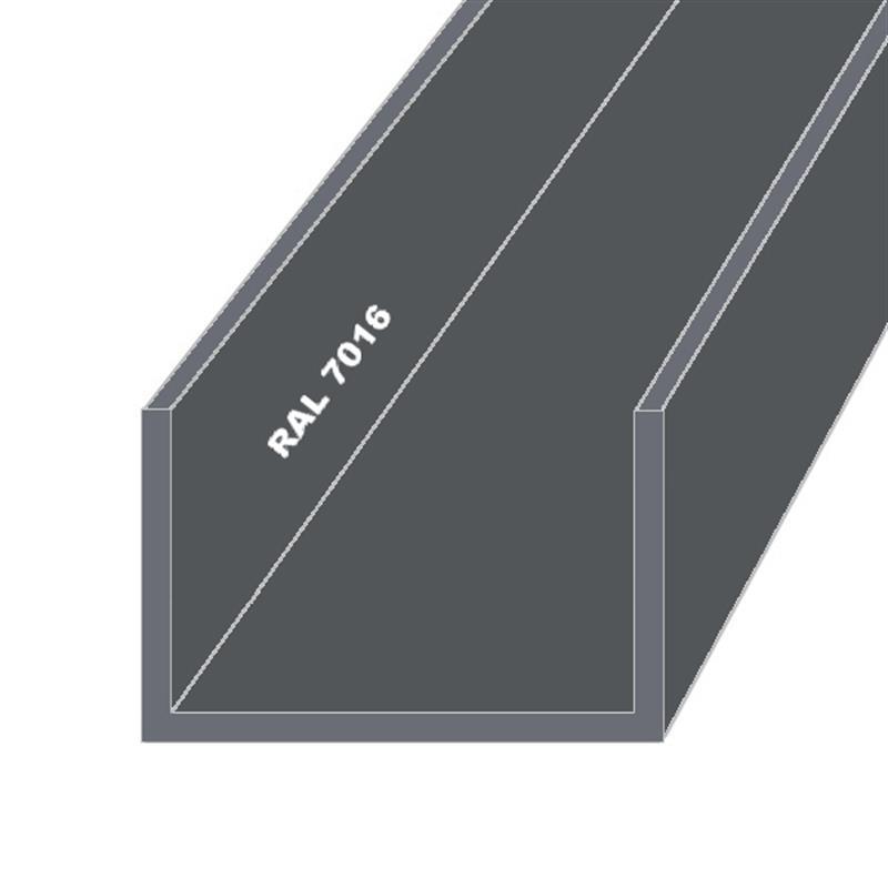 aluminium u profil alu schiene pulverbeschichtet wei 9016. Black Bedroom Furniture Sets. Home Design Ideas