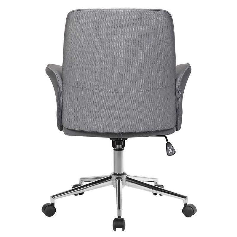 Bürostuhl Drehstuhl Stoff Grau 0704M/8062