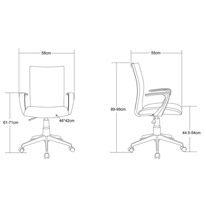 Bürostuhl Drehstuhl Schreibtischstuhl Schwarz W-157A/8175