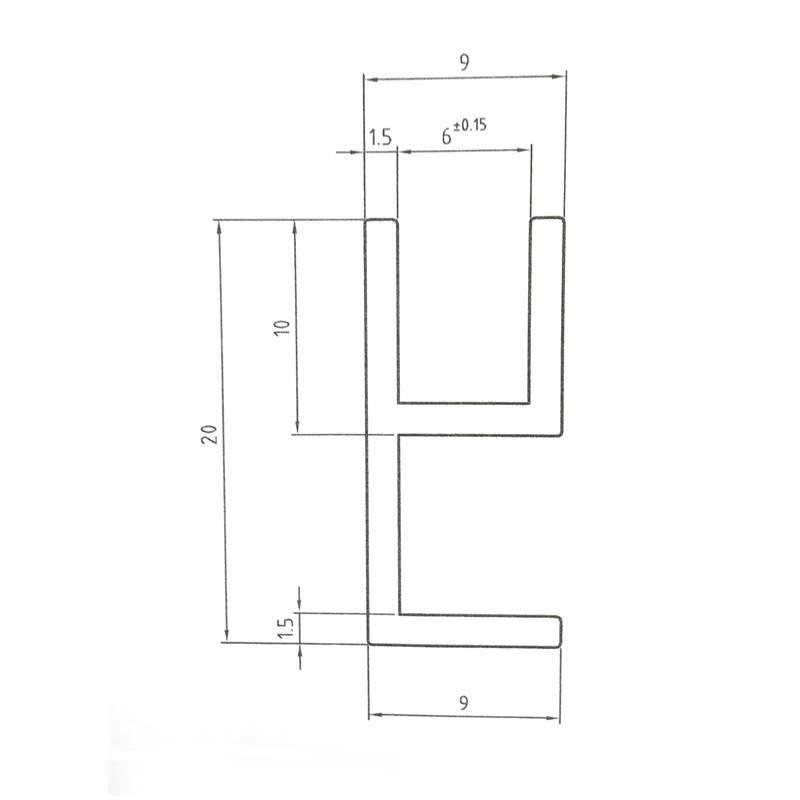 Aluminium Eck-Profil Eloxiert Alu Schiene Aluprofil 20x10x11x1,5 mm 1500mm