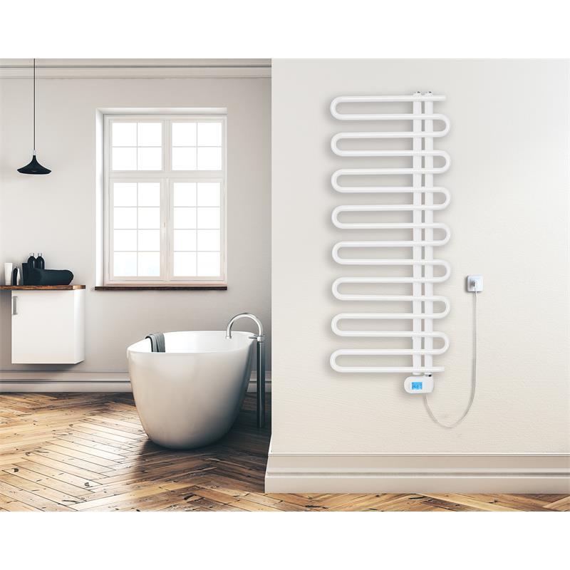 Radiador de baño eléctrico 500x1177 mm Blanco R63/8410