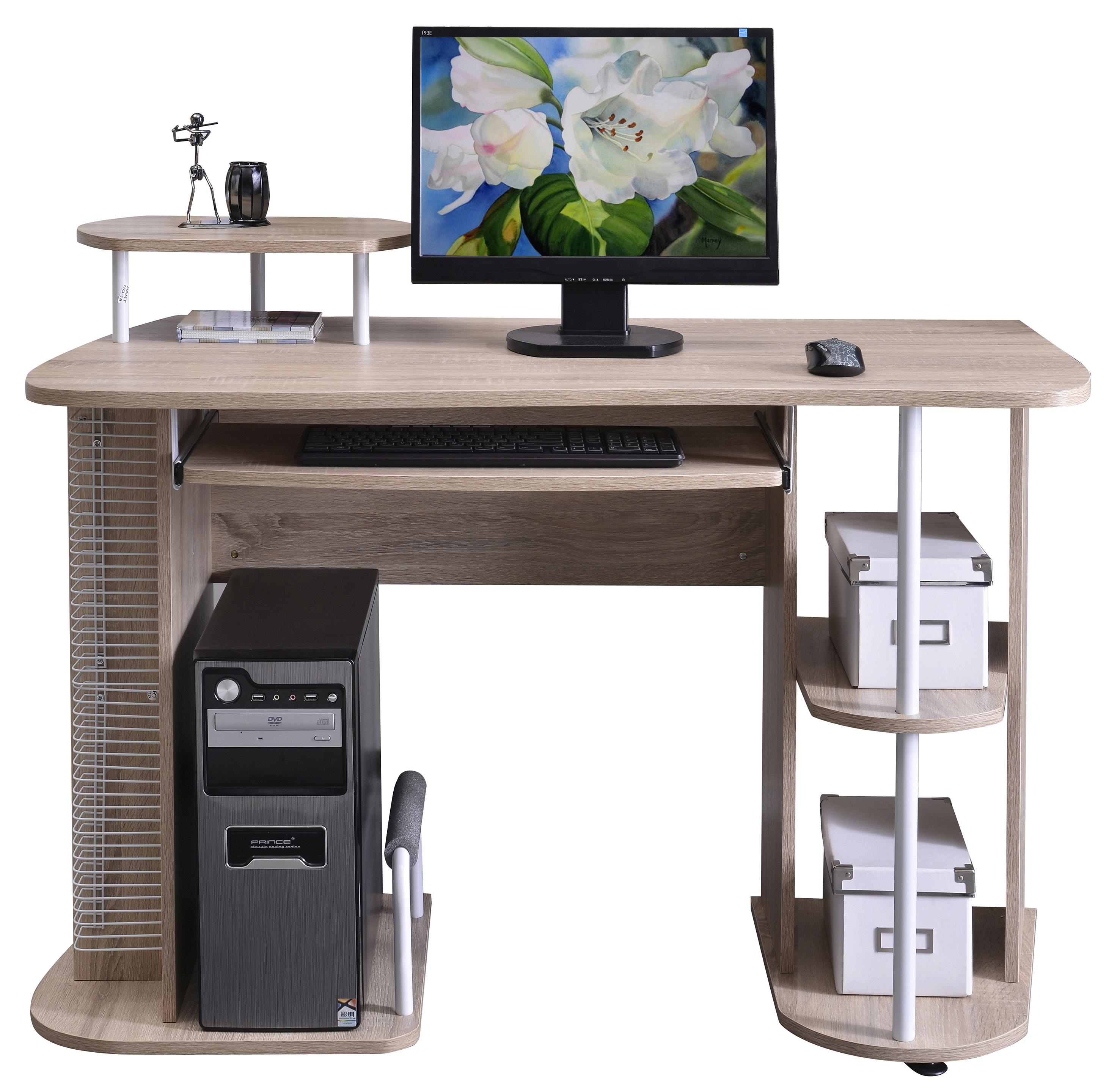 Sixbros Computertisch Computerschreibtisch Eiche S 1042083 Ebay