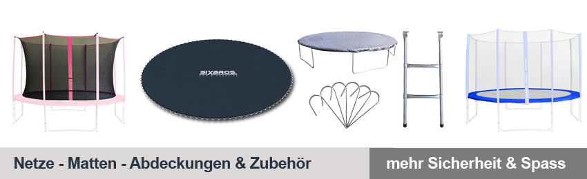 trampolin randabdeckung sprungmatte und sicherheitsnetze f r gartentrampoline. Black Bedroom Furniture Sets. Home Design Ideas